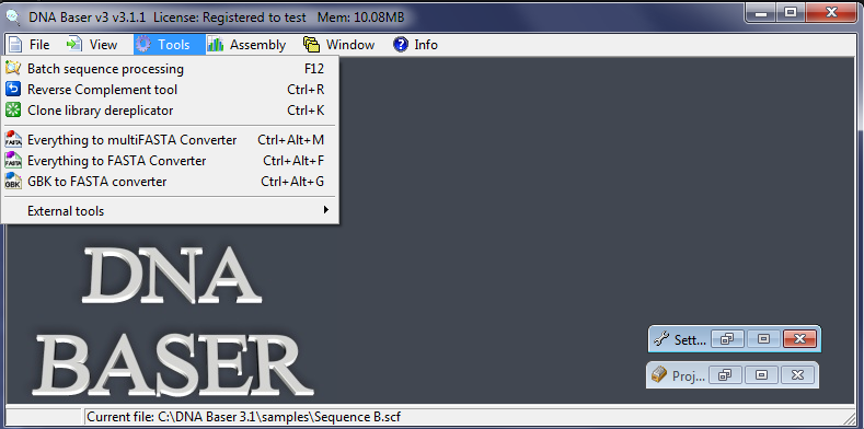 Everything to Fasta Converter converts the specified samples (SCF