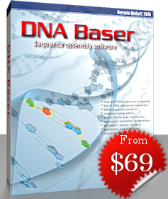 DNA sequence assembly software. Automatic ambituity correction, automatic end trimming, automatic vector removal